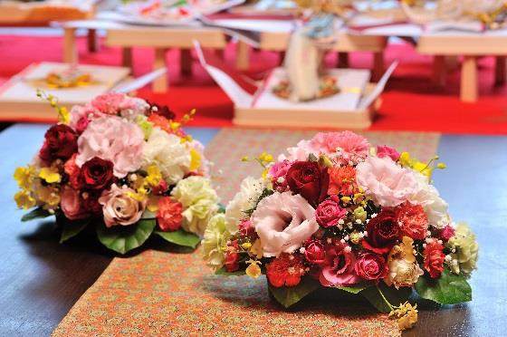松山全日空ホテル6F日本料理「雲海」結納・装花イメージ2