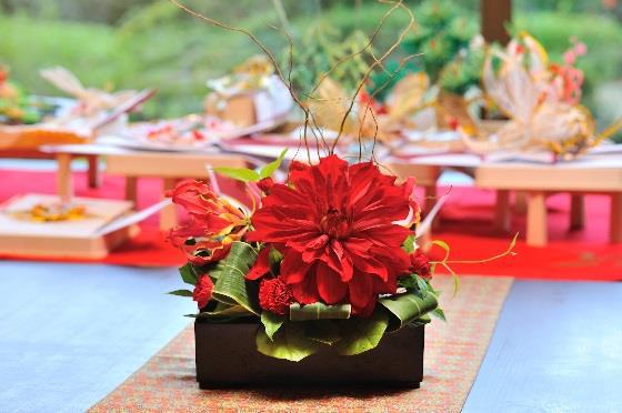 松山全日空ホテル6F日本料理「雲海」結納・装花イメージ3